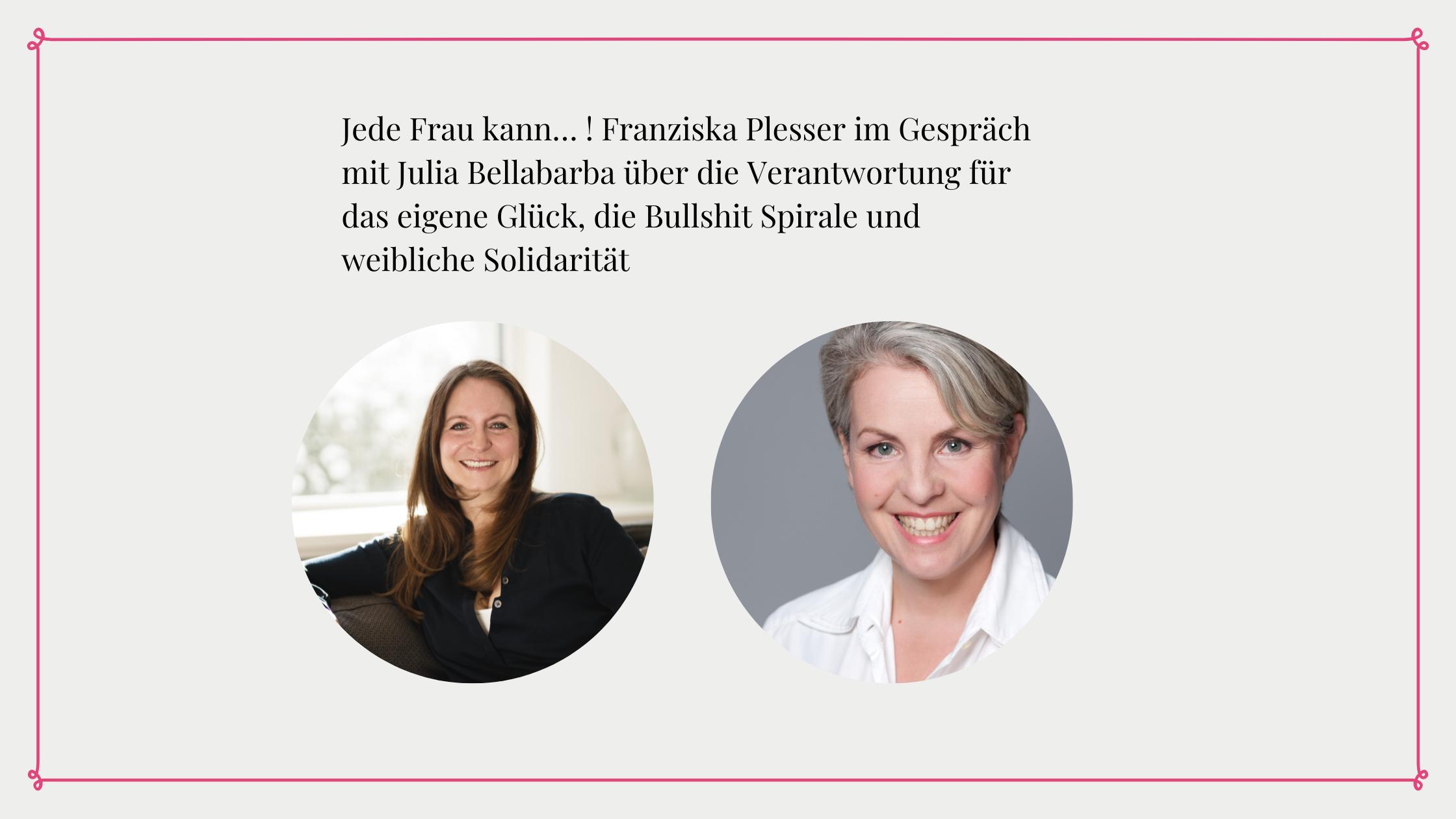 Foto zeigt Julia Bellabarba und Franziska Plesser im Interview